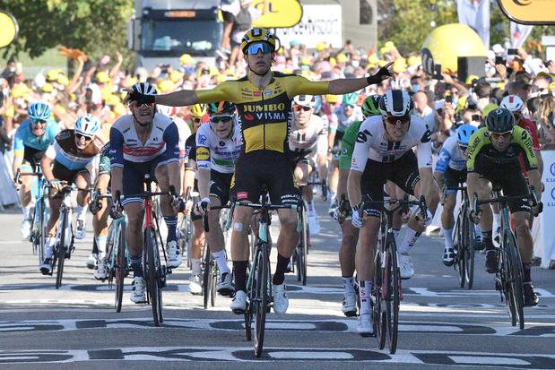 Wout van Aert enlève la 5e étape du Tour de France