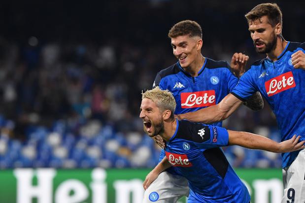 Naples bat Liverpool avec un but de Mertens, Dortmund et ses Belges gaspillent