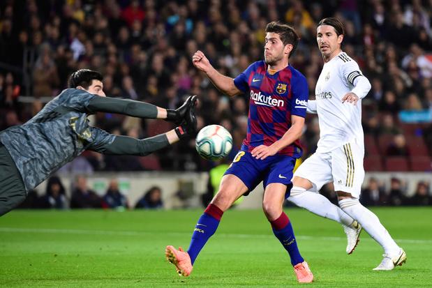 """Après le Clasico, Courtois a signé sa 7e """"clean sheet"""" en Liga cette saison"""