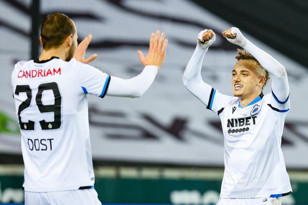 Club dendert voort in Brugse derby tegen Cercle: 1-2