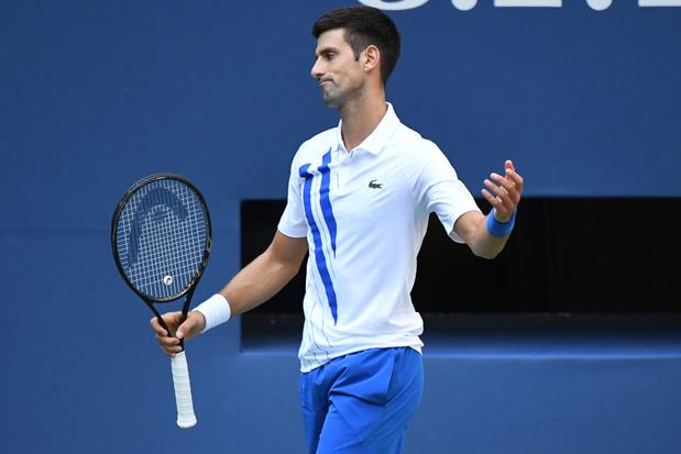 US Open: Djokovic gediskwalificeerd, Goffin haalt kwartfinale niet