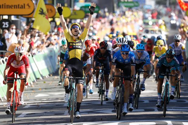 Deuxième succès pour Wout van Aert, qui remporte une 7e étape marquée par des bordures