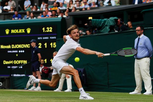 Goffin, terrassé en 1/4 par Djokovic, est éliminé de Wimbledon