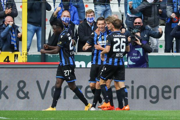 Bruges domine Anderlecht, qui concède sa première défaite de la saison