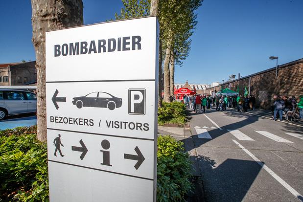 L'entreprise Bombardier à Bruges interrompt ses activités