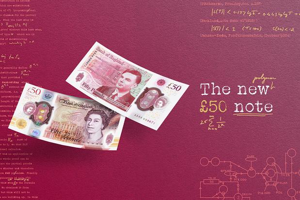 Computergenie Alan Turing op nieuw biljet 50 pond