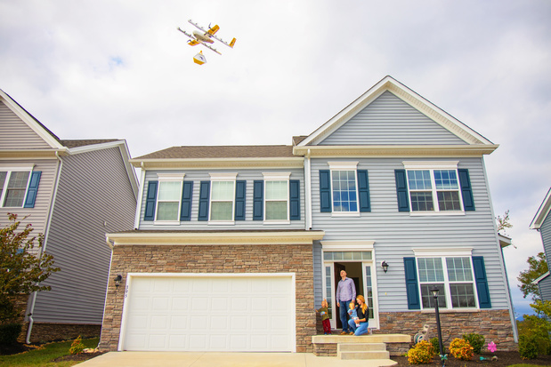 Google-zuster levert eerste pakketjes via drones