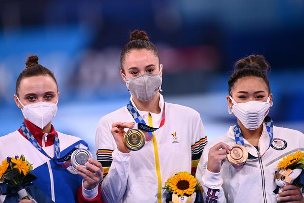 """Nina Derwael, médaillée d'or: """"La Brabançonne fut un moment magique"""""""