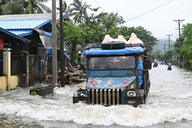 Aardverschuiving in Myanmar eist minstens 34 mensenlevens