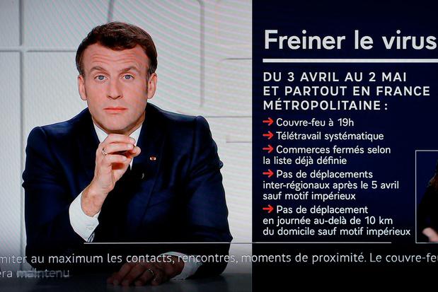 Macron: restrictions étendues et fermetures d'écoles contre le Covid