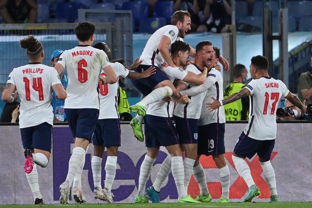 EURO 2021: l'Angleterre en passe 4 à l'Ukraine et complète le dernier carré