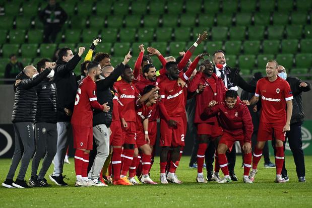 Europa League: Standard en Gent verliezen eerste wedstrijd, Antwerp wint