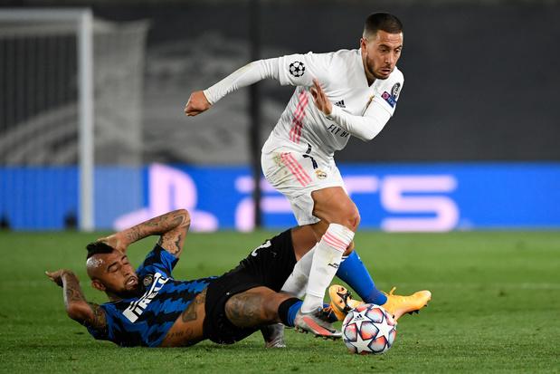 Le Real Madrid de Courtois et Hazard émerge contre l'Inter, De Bruyne à l'assist pour City