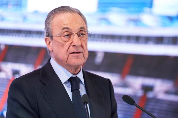 Real Madridvoorzitter Pérez verdedigt Super League: 'Het moet het voetbal juist redden'