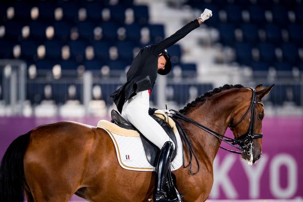 Troisième médaille pour la Belgique, Michèle George s'offre l'or dans l'épreuve de dressage