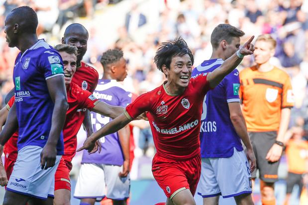 Le Japonais Koji Miyoshi (Antwerp) assomme Anderlecht 4 minutes après ses débuts