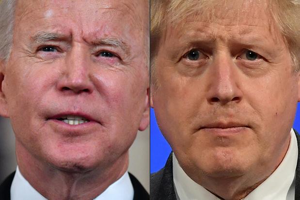 """Premier face-à-face entre Biden et Johnson: """"relation spéciale"""", ou pas ?"""