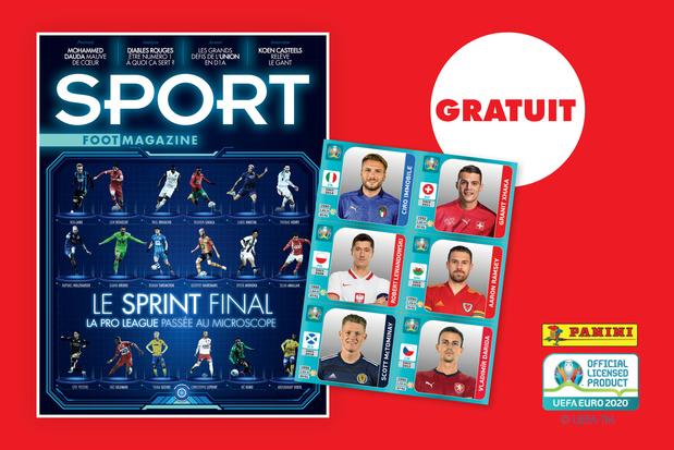 Cette semaine avec des stickers Panini EURO2020 gratuits