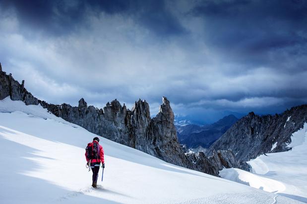 Mont Blanc brokkelt af door klimaatverandering