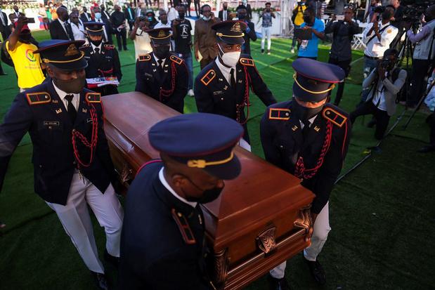 Haïti: schoten verstoren begrafenis van vermoorde president