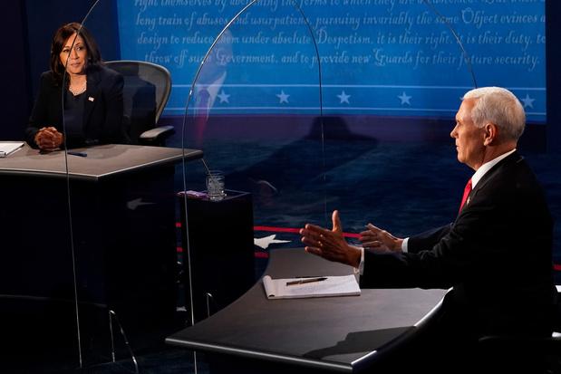 Debat tussen vicepresidentskandidaten verloopt kalmer, met scherpe discussie over coronavirus
