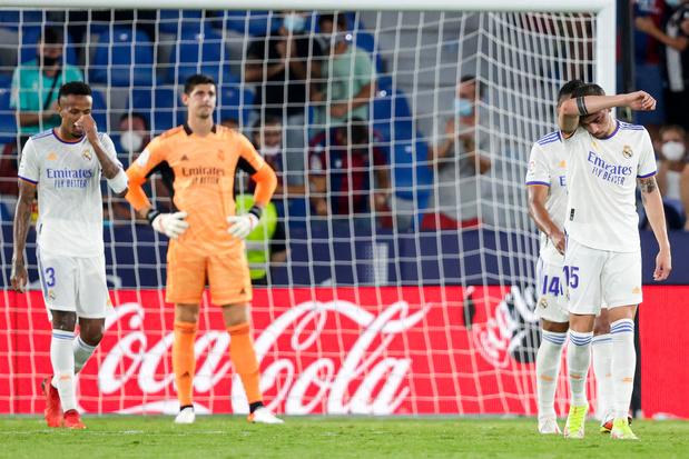 Real Madrid: Courtois encaisse trois buts, Hazard sort avant l'heure de jeu
