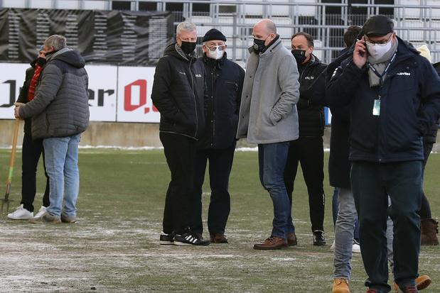 Charleroi/Club Bruges reporté en raison de l'état du terrain