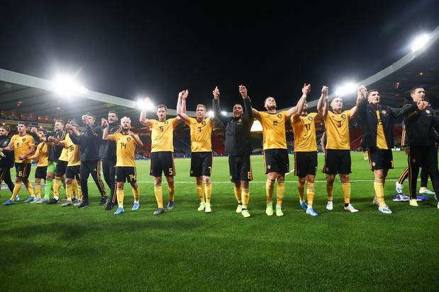 Classement FIFA: la Belgique trône toujours au sommet de la hiérarchie mondiale