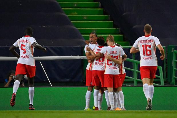 Le RB Leipzig s'impose sur le fil face à l'Atletico Madrid et rejoint le PSG en demi-finales