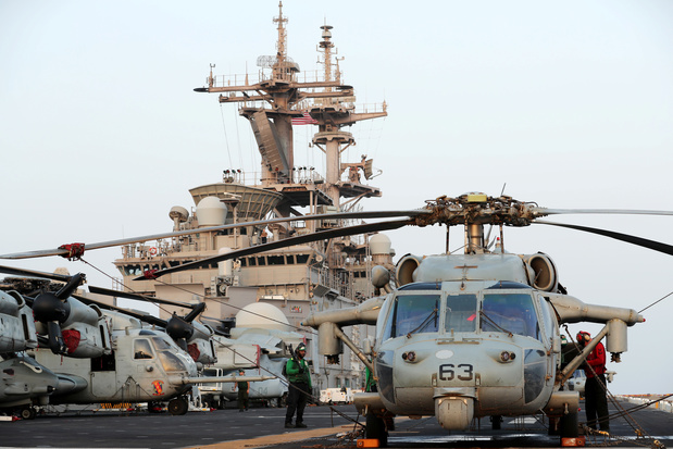 VS halen Iraanse drone neer boven Straat van Hormoez