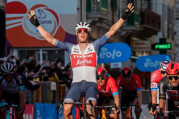 Jasper Stuyven remporte Milan-Sanremo et s'offre le premier Monument de sa carrière