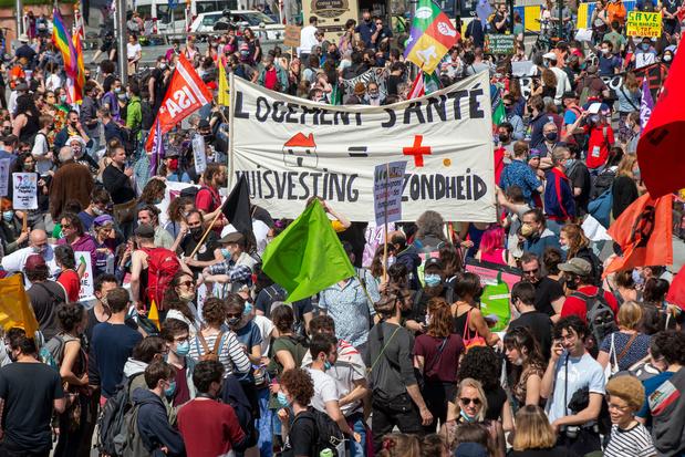 Drie betogingen in Brussel verliepen relatief rustig