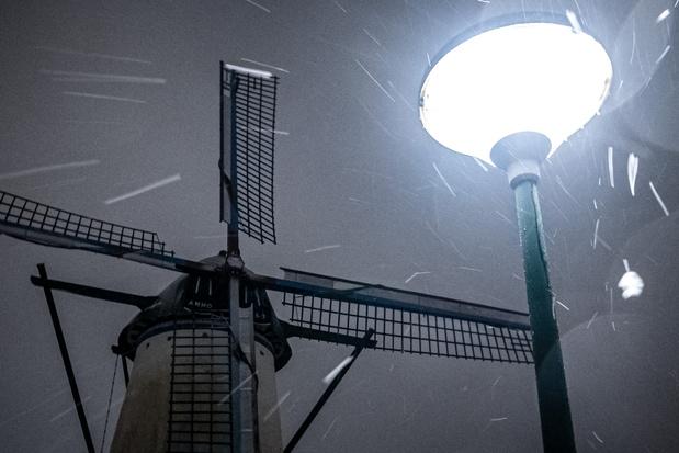 Tempête de neige aux Pays-Bas, une première en dix ans