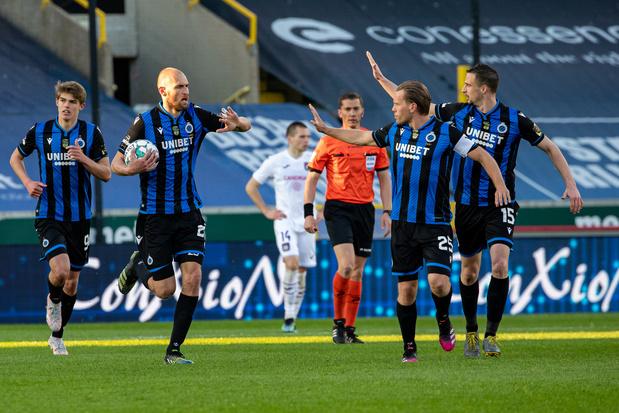 Anderlecht rejoint à la dernière minute par le Club Bruges