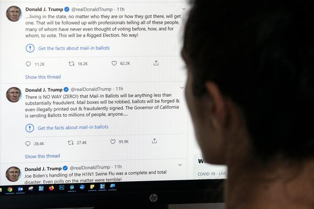 Twitter signale un tweet de Donald Trump comme trompeur, une première