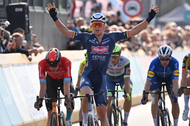 Tim Merlier vainqueur de la 1ere étape du Tour du Bénelux, Evenepoel perd quasiment 1 minute