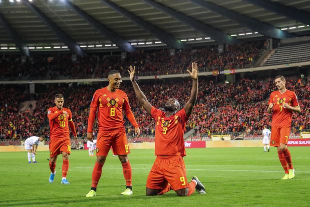Avec un 9-0 contre Saint-Marin, la Belgique qualifiée pour l'Euro 2020, Lukaku taille 51