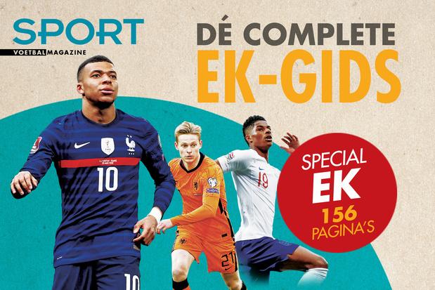 Haal vanaf vandaag dé complete EK-gids van Sport/Voetbalmagazine in huis!