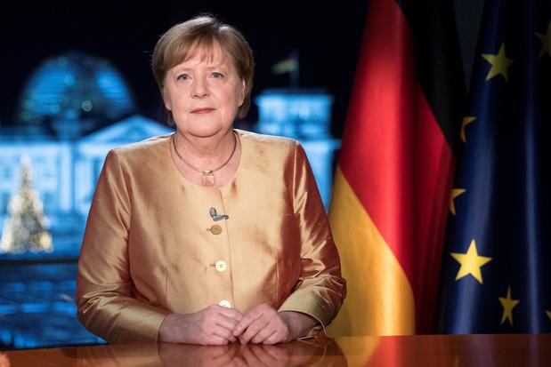 Angela Merkel in laatste nieuwjaarstoespraak: 'Nooit met zoveel hoop uitgekeken naar volgend jaar'