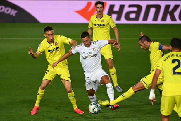 Eden Hazard en Thibaut Courtois vieren 34e landstitel van Real Madrid