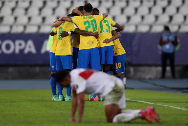 Copa América: Brazilië walst over Peru, Colombia niet voorbij Venezuela