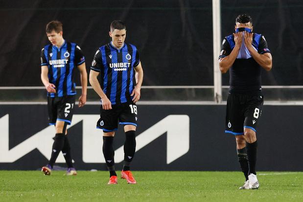 Europa League: désillusion pour le Club Bruges, éliminé