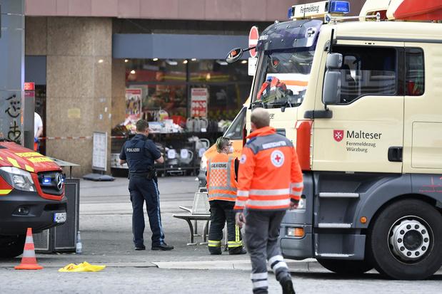 Au moins trois morts dans une attaque au couteau à Würzburg en Allemagne
