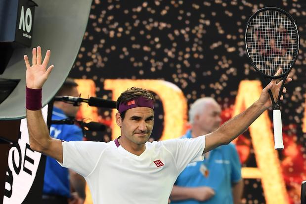 Australian Open: Federer kruipt weer door het oog van de naald en bereikt halvefinales