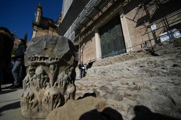 Découverte du tombeau de Romulus, roi fondateur de Rome