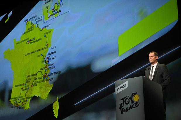 Het parcours van de Tour: start in Denemarken, zesde etappe in België
