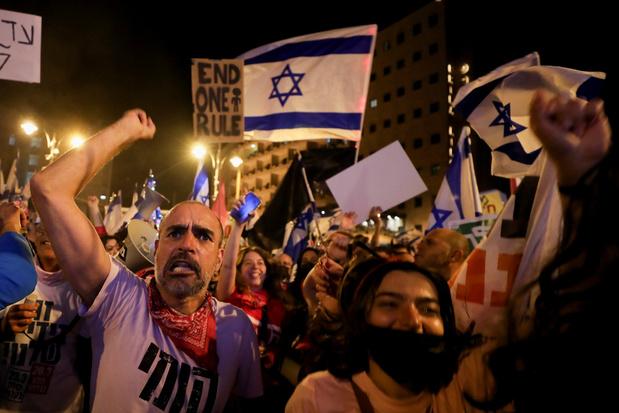 Grote anti-Netanyahubetoging drie dagen voor verkiezingen
