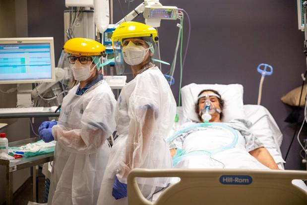 Coronavirus en Belgique: 467 hospitalisations quotidiennes en moyenne