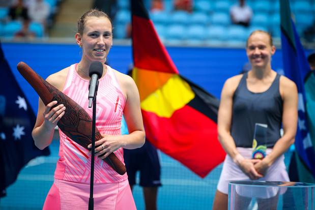 """Elise Mertens remporte un tournoi préparatoire à l'Open d'Australie: """"Ce titre me donne beaucoup de confiance"""""""