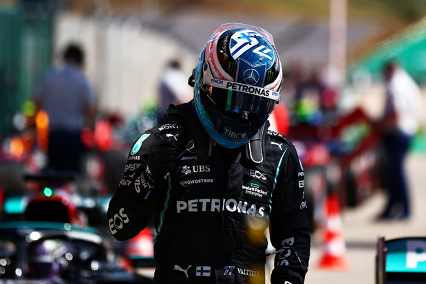 F1 Portugal: Bottas houdt Hamilton van honderdste pole